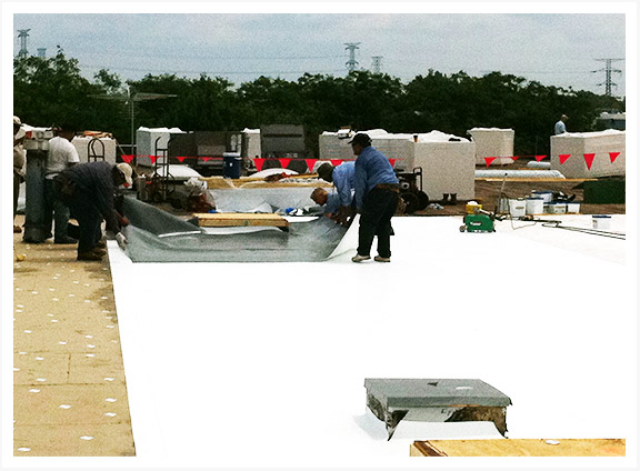Single Ply Roof Installation : Tpo roofing systems chicago pvc roofs